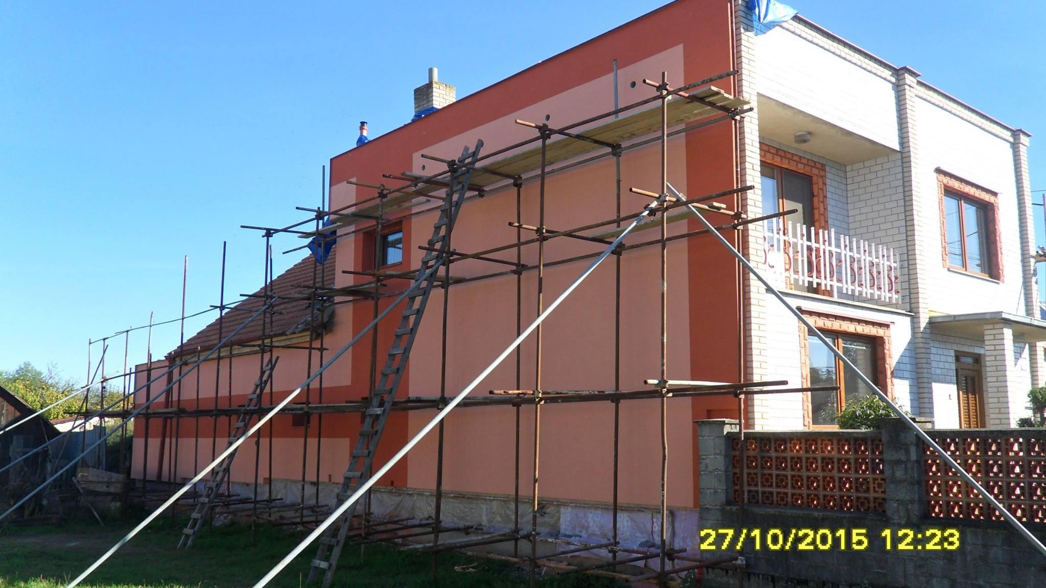 Zateplenie zadnej strany domu
